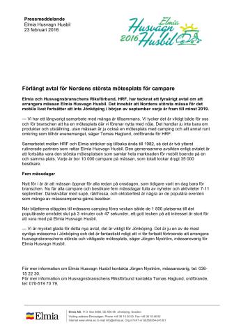 Förlängt avtal för Nordens största mötesplats för campare
