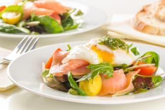 Sandwich med pocherat ägg