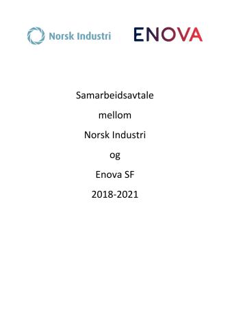 Samarbeidsavtale mellom Norsk Industri og Enova SF