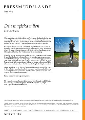 Maria Akraka: Den magiska milen