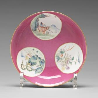 SKÅLFAT, porslin. Qingdynastin, Guangxu märke och period (1874-1912).