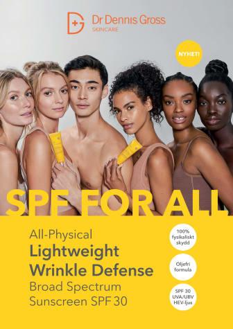 Dr Dennis Gross All Physical Lightweight Wrinkle Defense Spa 30 A4-skylt