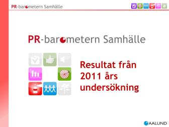 Generella resultat från PR-Barometern Samhälle 2011