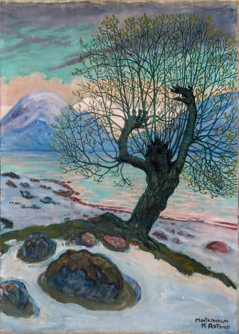 Nikolai Astrup: Marsmorgen / A Morning in March, olje på lerret, ca 1920