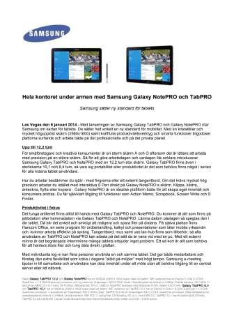 Hela kontoret under armen med Samsung Galaxy NotePRO och TabPRO