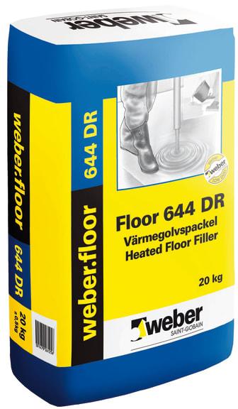 Floor 644 Värmegolvspackel DR - Dammreducerat värmegolvspackel från Weber