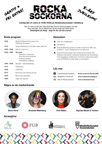 Program rocka sockorna-firande 2020 i Göteborg