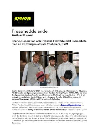 Sparks Generation och Svenska Fäktförbundet i samarbete med en av Sveriges största Youtubers, RMM