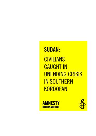 Sudan: Humanitär kris i södra Kordofan