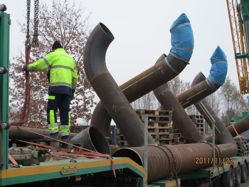 Rörsektioner till pumpstation