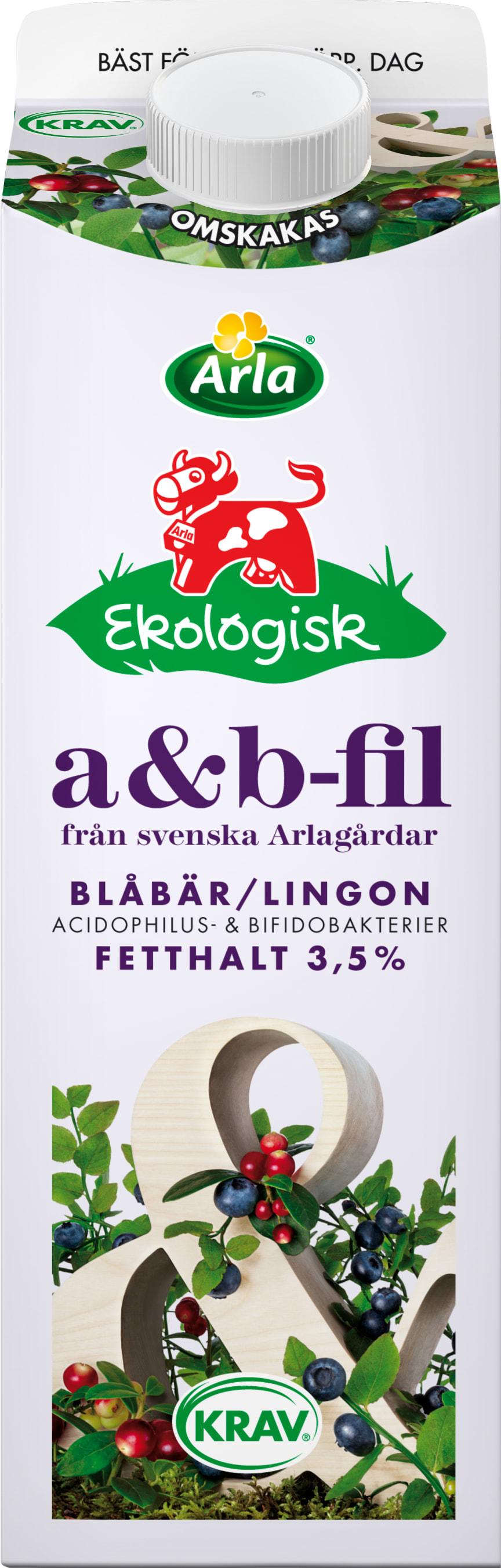 Arla a&b-fil blåbär/lingon 3,5 %