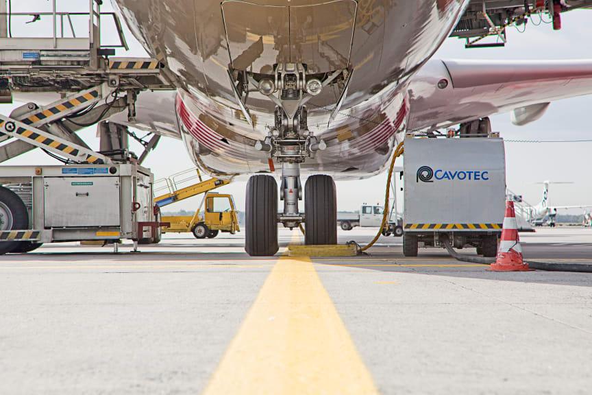Cavotec caddy at Frankfurt Airport