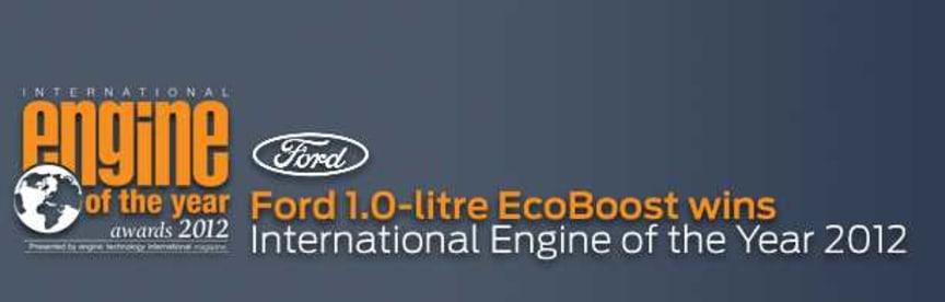 Fords nye 1.0 liters EcoBoost-motor har blitt kåret til årets motor internasjonalt.