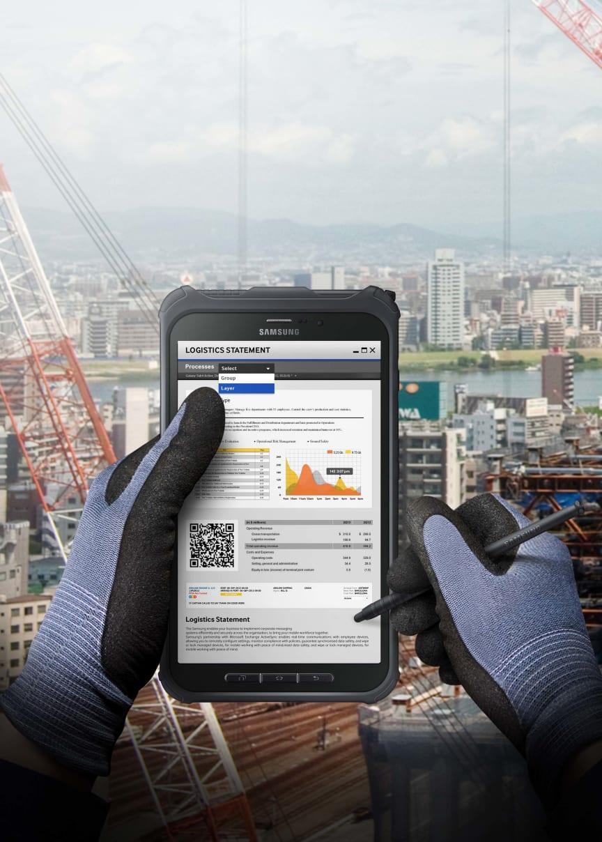 Nu lanseras IP67-klassade Galaxy Tab Active med antireflexbehandlad skärm
