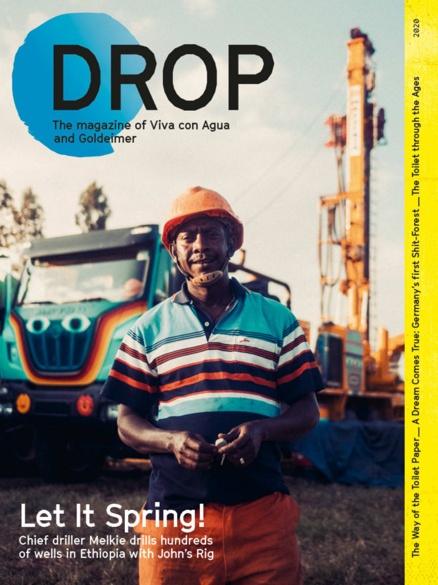 Drop - The Viva con Agua and Goldeimer Magazine