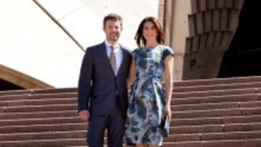 Kronprinsparret i 2013 foran Sydney Opera House