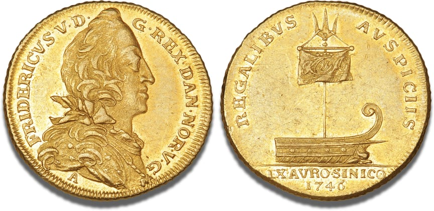 Danmark, 2 dukat 1746