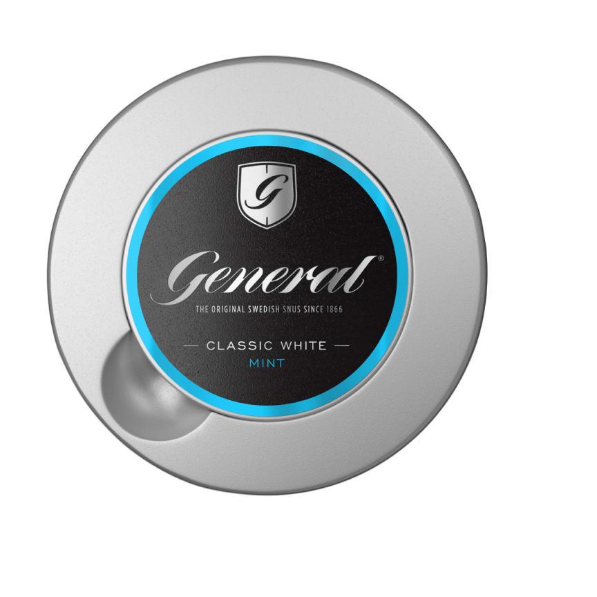 General introducerar snus med smak av mint