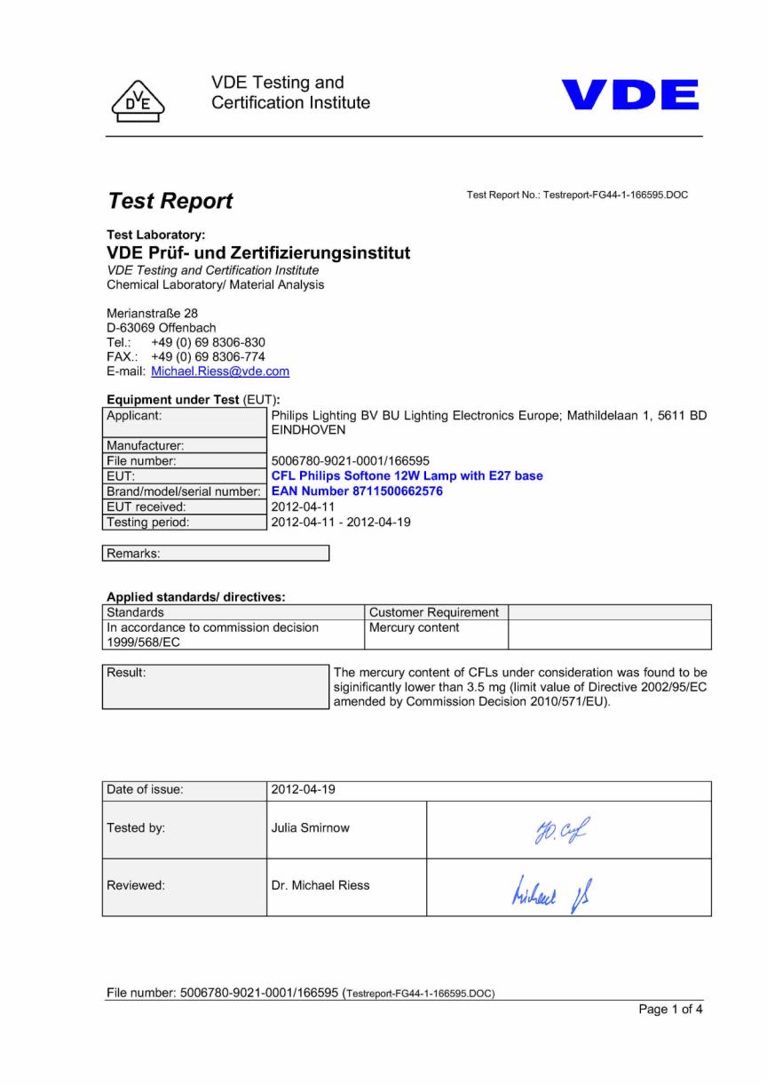 Test Report Softone