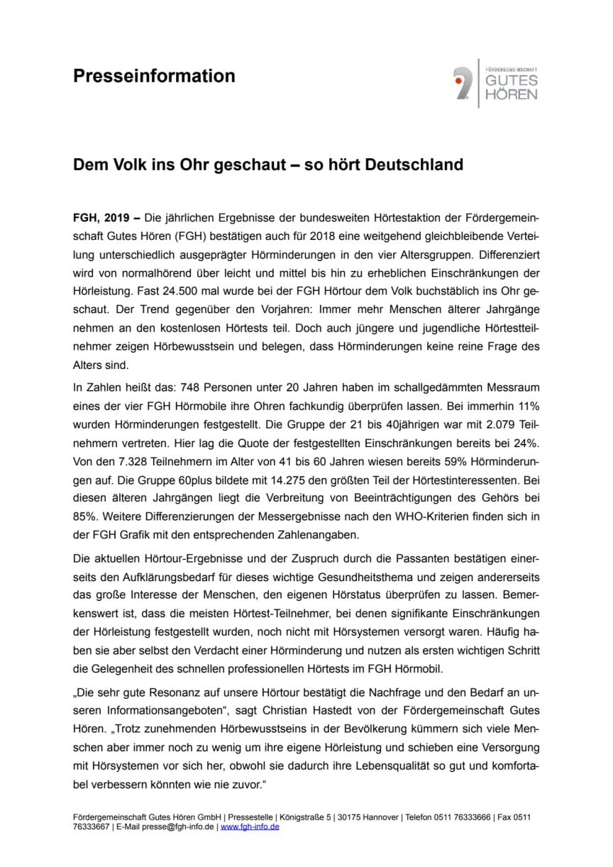 Dem Volk ins Ohr geschaut – so hört Deutschland