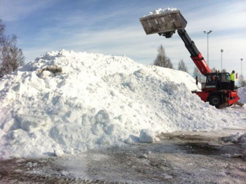 Snö sparas inför Stora Nolia i Umeå 3 118 2013. | BRP Sweden AB