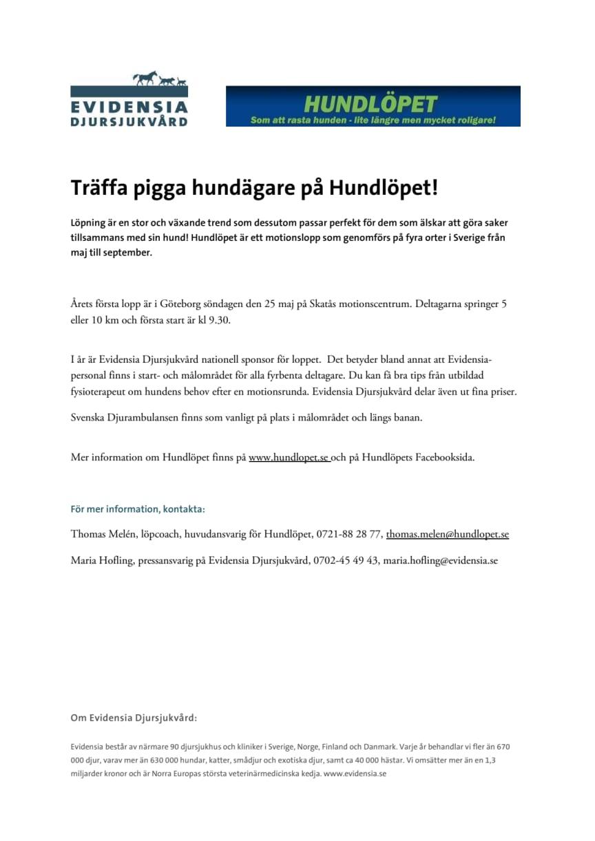 Träffa oss på Hundlöpet i Göteborg