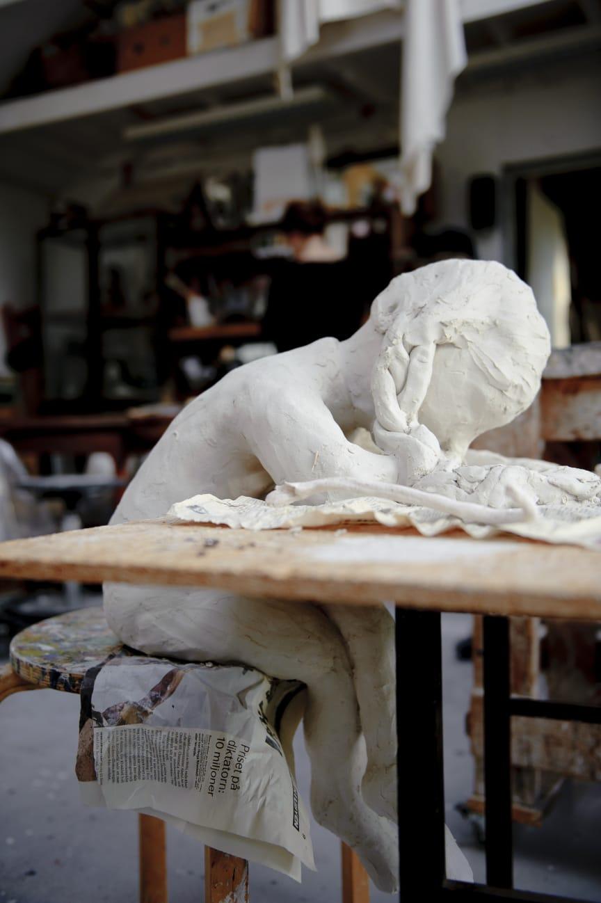Klara Kristalova's studio. November 2011.