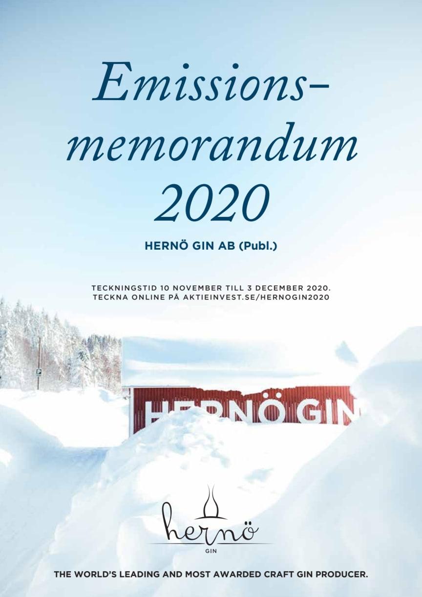 Emissionsmemorandum Hernö Gin 2020