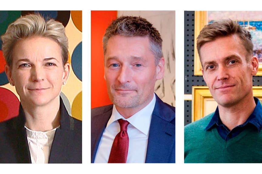 Alexa Bruun Rasmussen, salgsdirektør Kasper Nielsen og vurderingschef i Aarhus Peter Beck