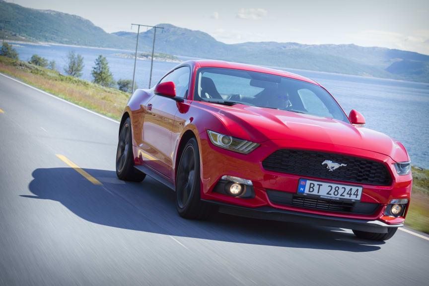 Endelig er nye Ford Mustang kommet til Norge