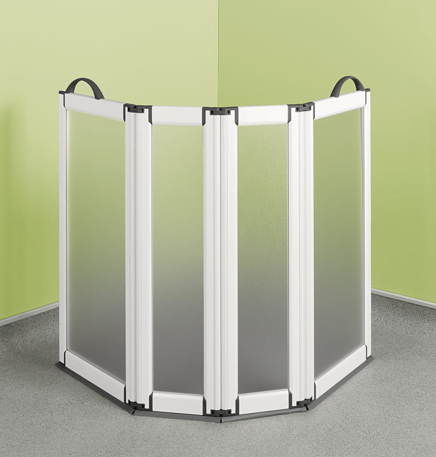 Sanftläufer transportable Duschtür 4 seitig