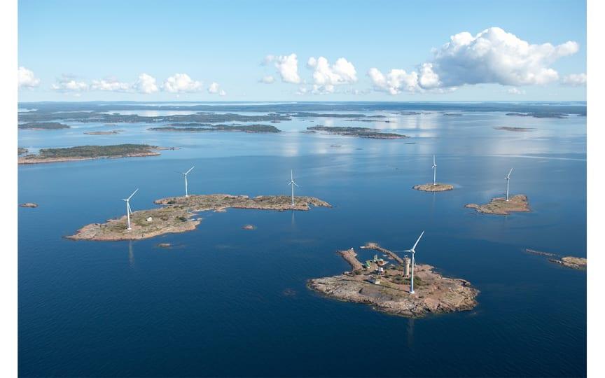 Orklan Ahvenanmaan tehtaalla siirrytään tuulivoimalla tuotettuun sähköön