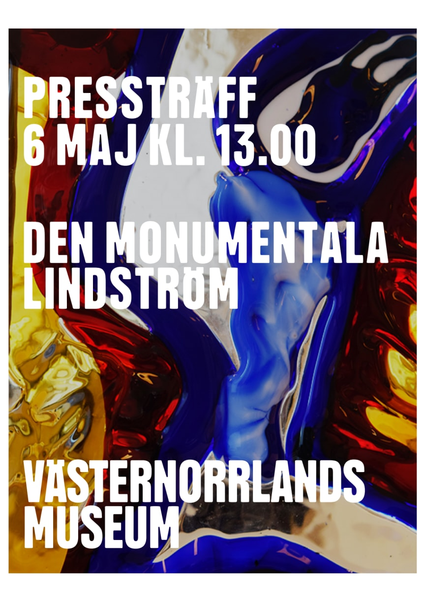 """Pressvisning av utställningen """"Den monumentala Lindström"""""""