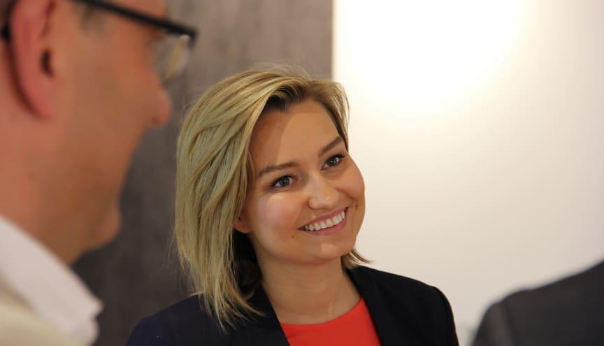 Ebba Busch Thor i Videum Science Park