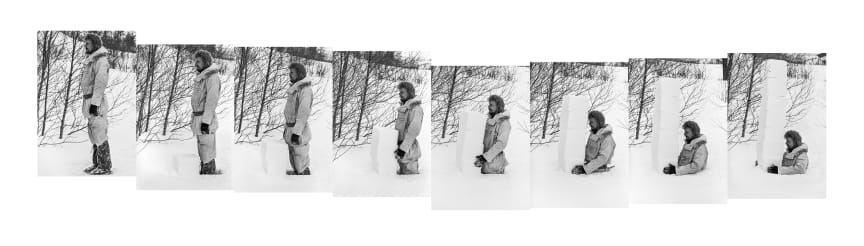 Oddvar I.N. Daren Måling av snødybde [Measuring the Depth of the Snow], 1981 Fotografi/photography 170 x 880 cm