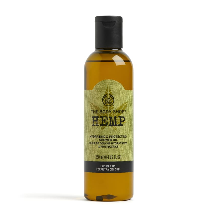 Hemp hydrating & protecting shower oil