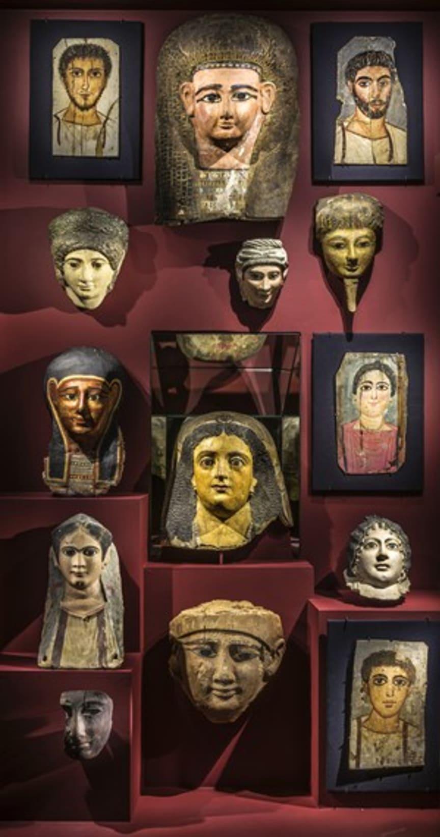 Mumiemasker från olika tider