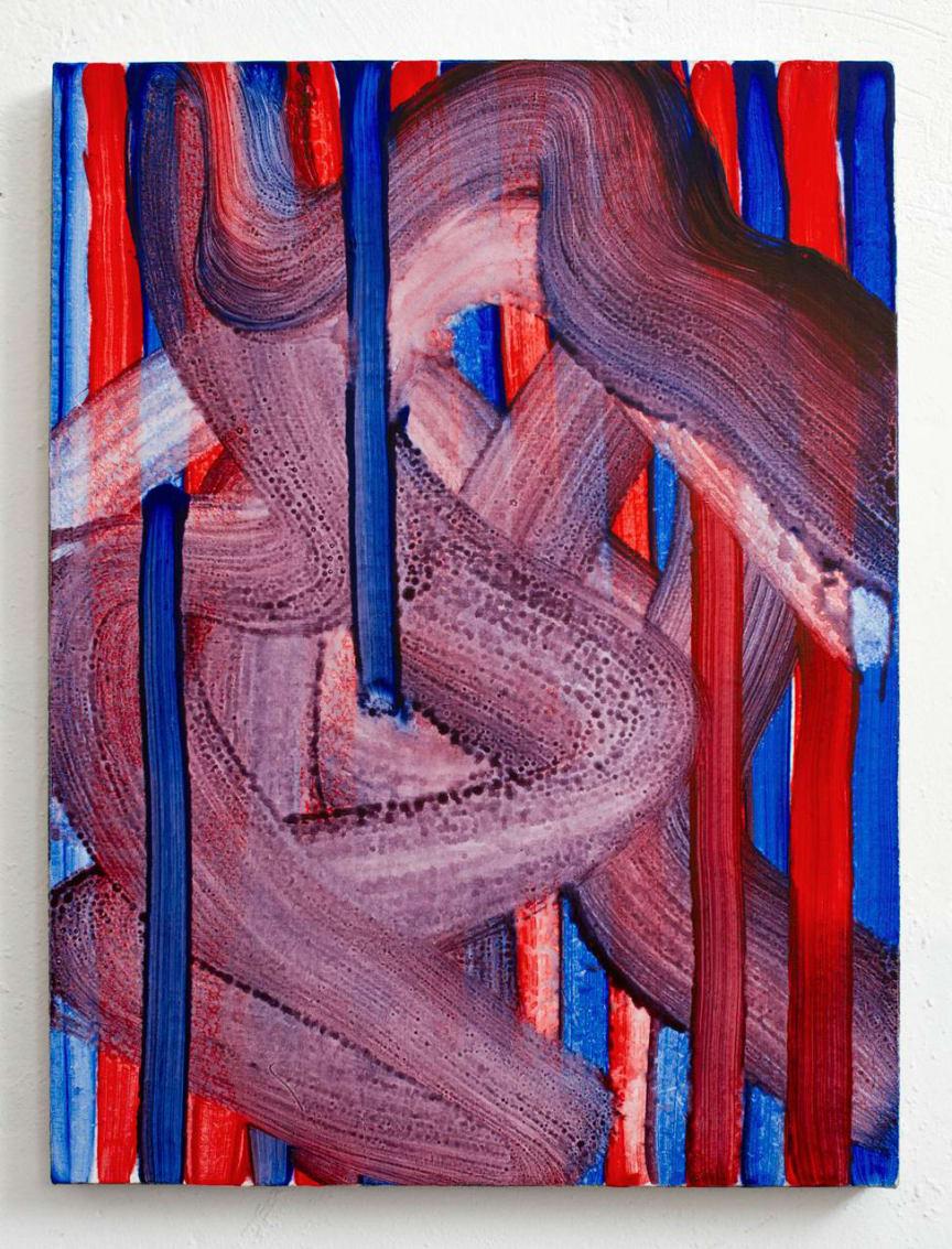 Jacob Ojanen, Untitled, Acrylic on canvas, 60 x 45 cm, 2019