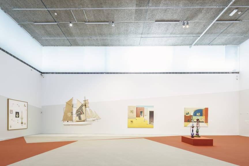 Installationsvy, Jens Fänge, Drömmarna, 2018, Bonniers Konsthall