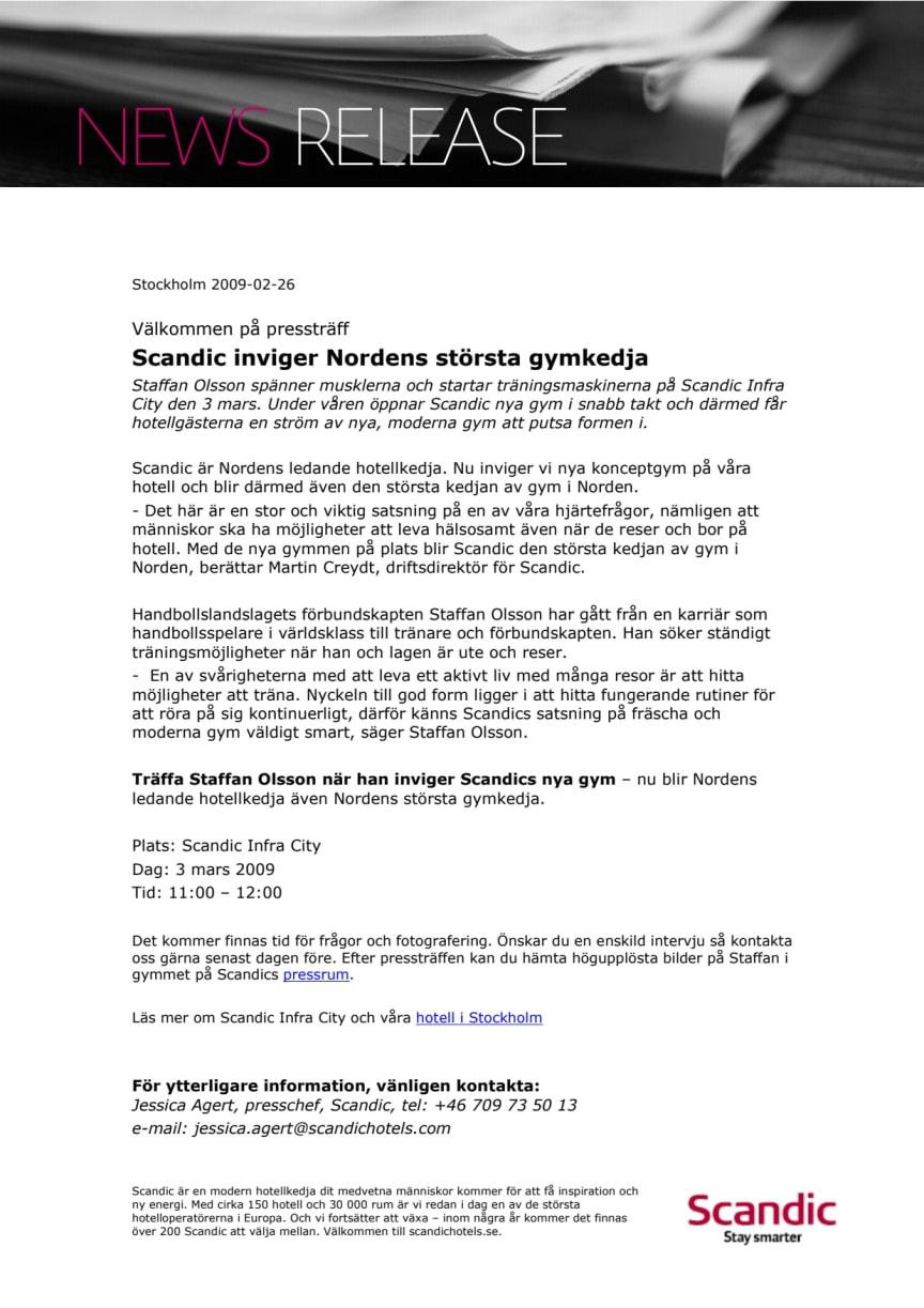 Scandic inviger Nordens största gymkedja