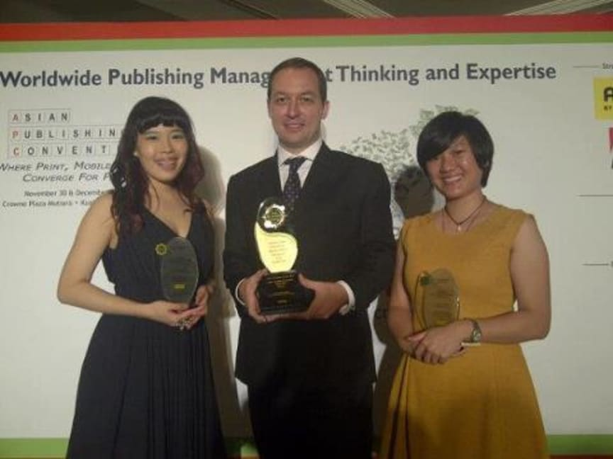 "Investor Central wins ""Best Example of Content Leadership"" at Asian Publishing Convention in Kuala Lumpur"