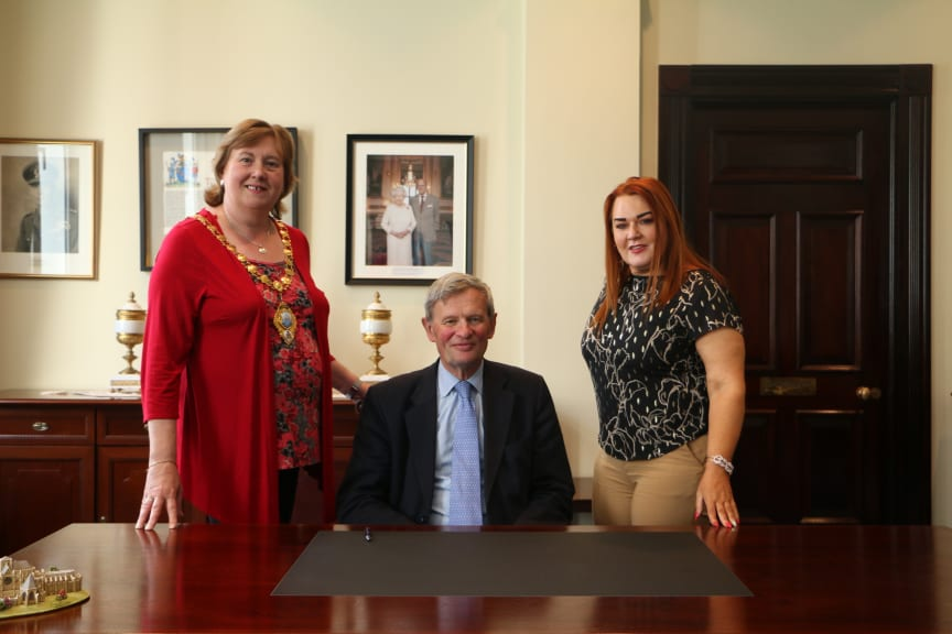 Lord Lieutenant of County Antrim welcomed to the Braid