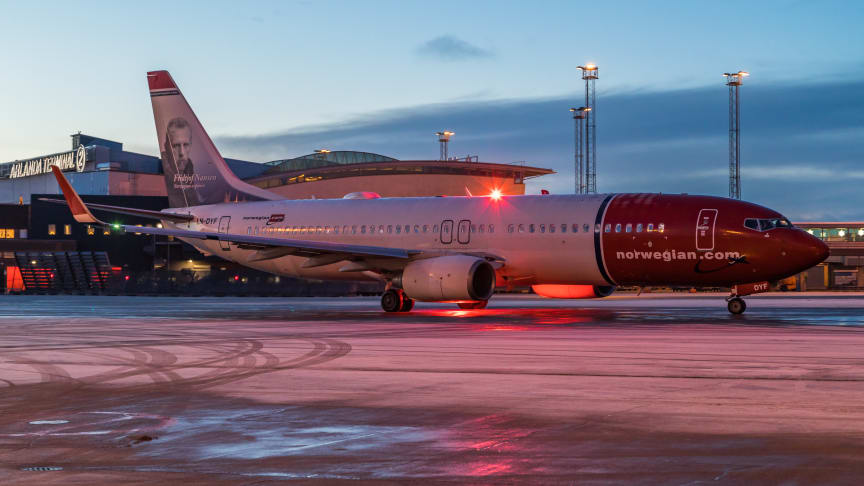 Norwegian Boeing 737-800 på Stockholm Arlanda