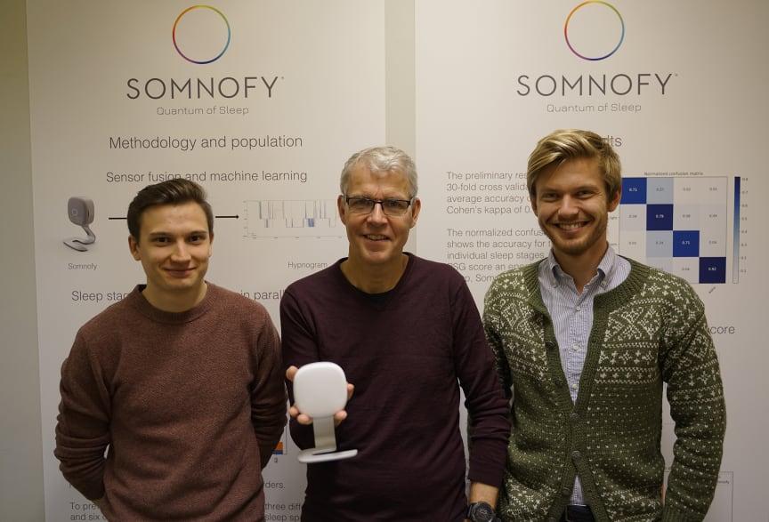 VitalThings får hjelp av Norconsult Informasjonssystemer. Fra venstre:  Daniel Johansen Trosten, Bård Benum, Sondre Foslien