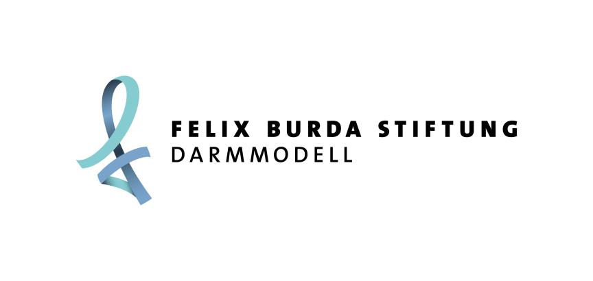 Logo. Darmmodell der Felix Burda Stiftung