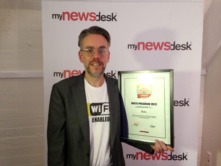 Ulf Seijmer vid prisutdelningen av Årets Pressrum 2012