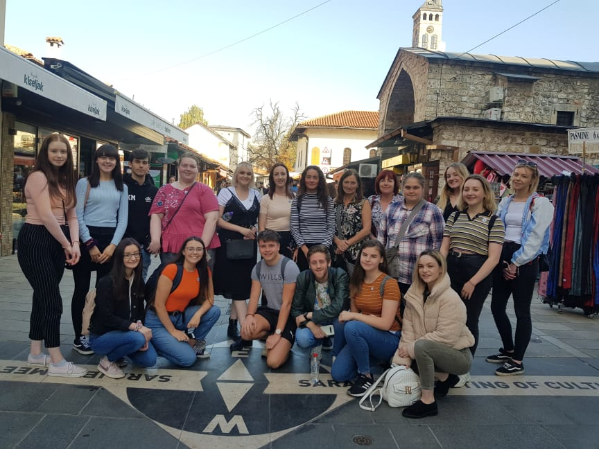 Young Leaders from across the borough who participated in the visit to Bosnia-Herzegovina in October 2019.