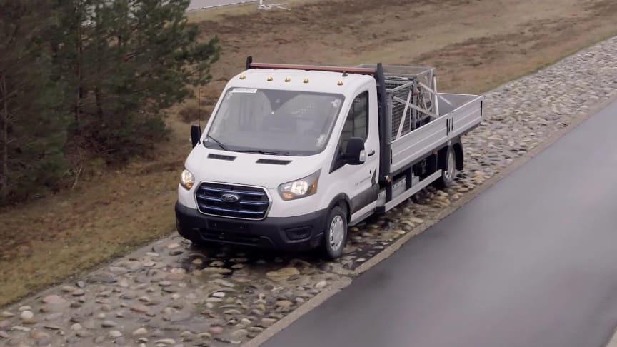 Ford E-Transit testing 2021