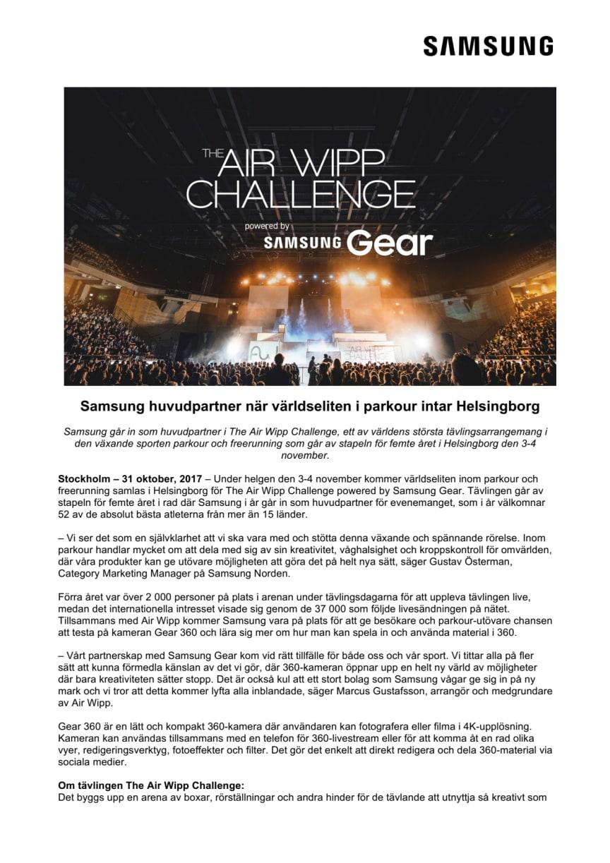 Samsung huvudpartner när världseliten i parkour intar Helsingborg