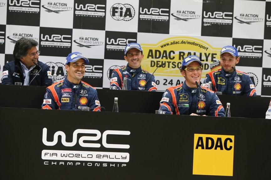 Hyundai Motorsport at Rally Deutschland